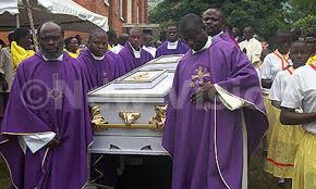 Fr. Thomas' mother of 72 years old was laid to rest.
