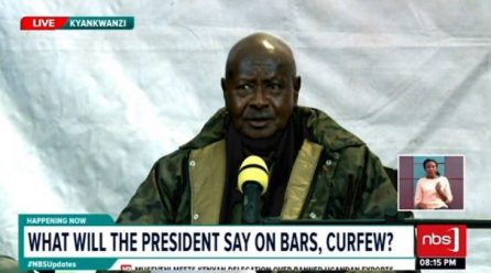 Museveni declines calls to relax curfew hours.