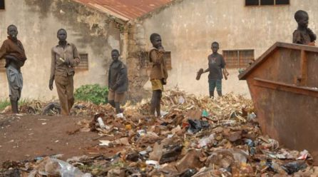 Street kids in Kasese town condemned to poor parenting.